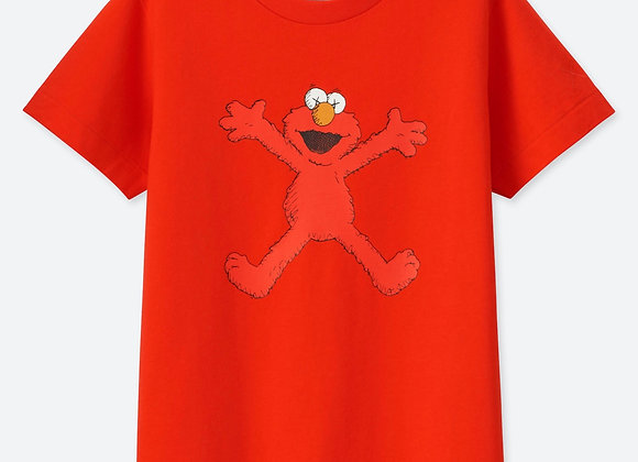 KAWS x Uniqlo Kids Sesame Street Elmo T-Shirt Red
