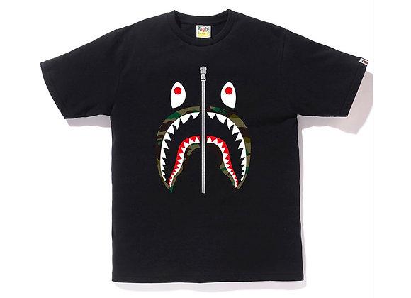 BAPE 1st Camo Shark Tee Tee (Ladies) Black/Green