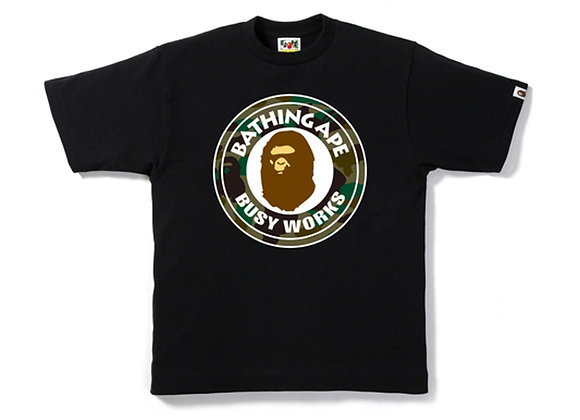 BAPE 1st Camo Busy Works Tee Ladies Black