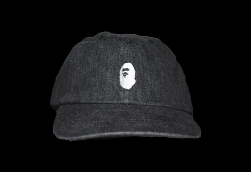 7f690f0a9656 A BATHING APE DENIUM DAD CAP