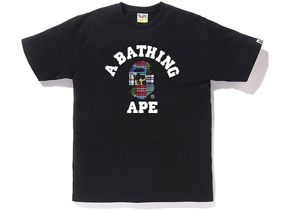 BAPE Patchwork College Tee Black