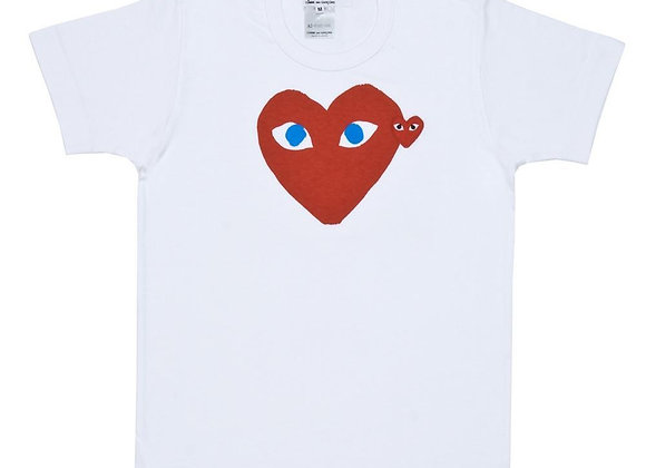 Comme des Garcon Red Play Blue Eye Tee