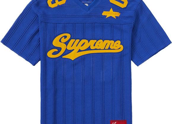 Supreme Mesh Stripe Football Jersey Royal