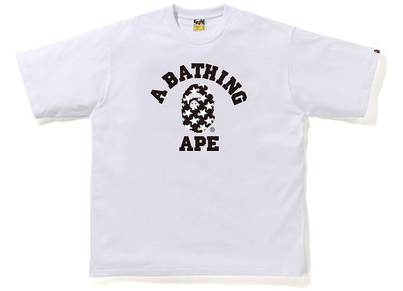 BAPE STA Pattern College Relaxed Fit Tee White/Black