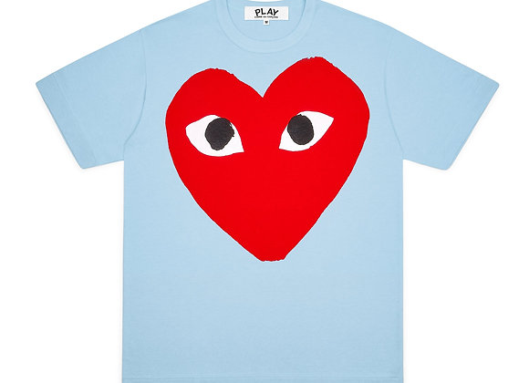 Comme des Garcon Red Play Big Heart Blue T-Shirt