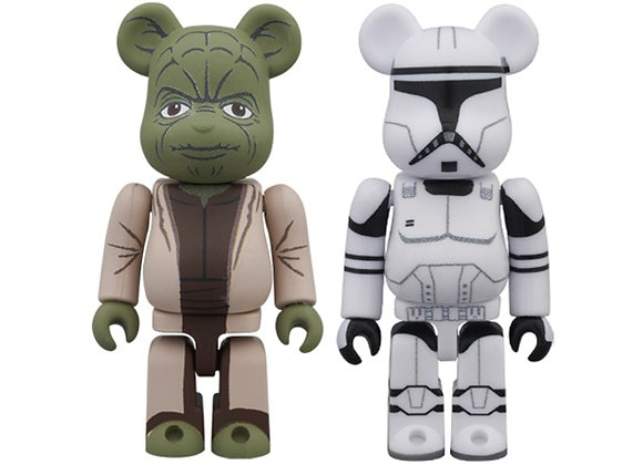 Bearbrick Yoda (EP2) & Clone Trooper (EP2) 2 Pack 100% Multi