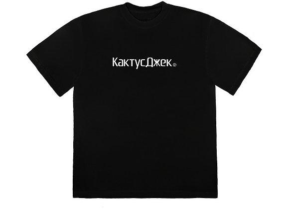 Travis Scott CJ Logo T-Shirt Black
