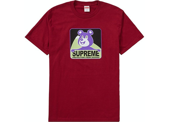 Supreme Bear Tee Cardinal
