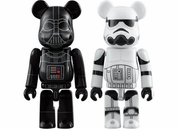 Bearbrick Darth Vader & Stormtrooper 2 Pack 100% Black