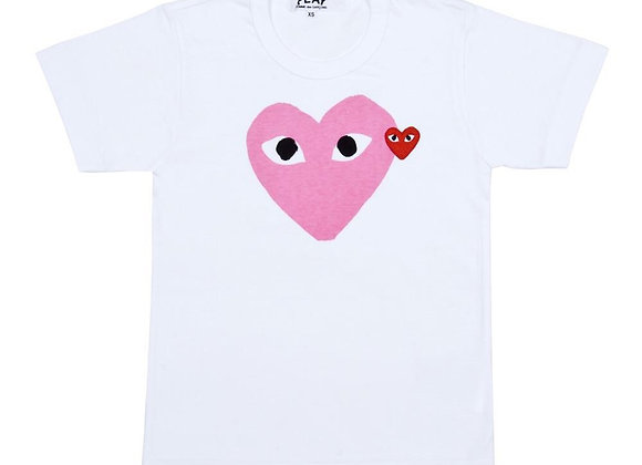 Comme de Garçon Pink Play Tshirt