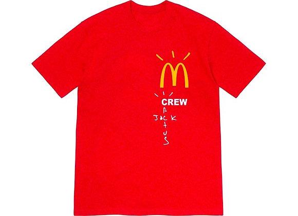 Travis Scott x McDonald's Crew T-Shirt Red