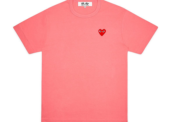 Comme des Garcon Red Play Pink T-Shirt