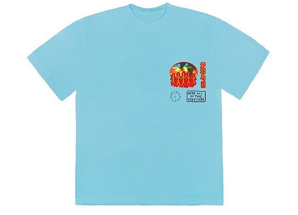 Travis Scott Cactus Jack C/O 2020 T-Shirt Light Blue