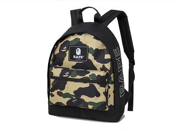 Bape Backpack Yellow Camo