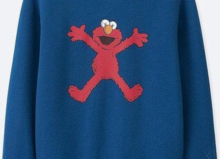KAWS x Uniqlo Kids Sesame Street Elmo Sweatshirt Blue