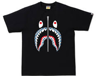 Bape Sta Pattern Blue Shark