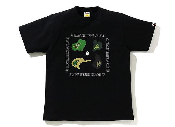 Bape Def Green Camo Black Tee
