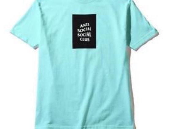 Anti Social Social Club Box Logo Tee Teal