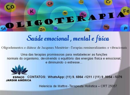 Oligoterapia com  Helenicia Mattos