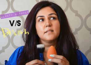 Beauty blender v/s Brush -                               best way to blend!