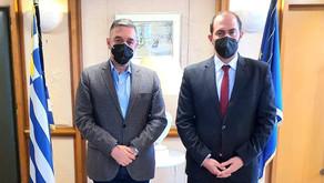 Συνάντηση Θέμη Χειμάρα με τον Υφυπουργό Δικαιοσύνης Γιώργο Κώτσηρα