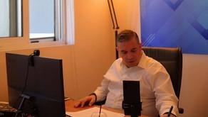 Ο Θέμης Χειμάρας στην τηλεδιάσκεψη Κυριάκου Μητσοτάκη με την Κ.Ο. της ΝΔ