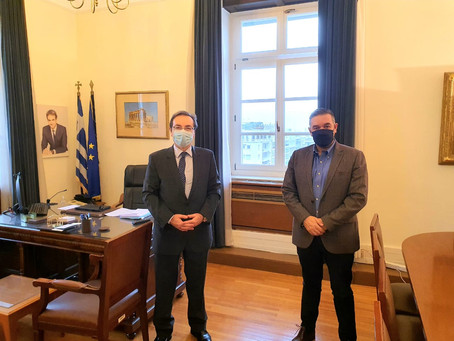 Συνάντηση Θέμη Χειμάρα με το Βουλευτή Φωκίδας και προτεινόμενο Γ.Γ. της Κ.Ο. ΝΔ, Γιάννη Μπούγα