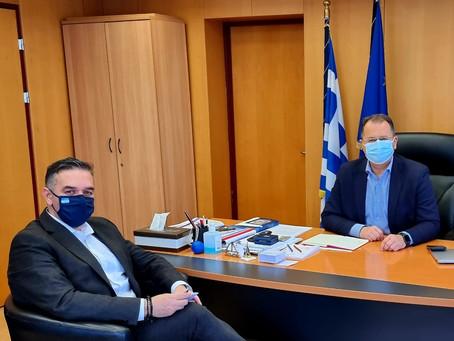 Συνάντηση με τον Υφυπουργό κ. Γιώργο Στύλιο για την ίδρυση Κτηματολογικού Γραφείου στη Λαμία