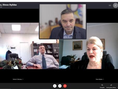 Τηλεδιάσκεψη με ΓΑΙΑΟΣΕ για παραχώρηση ακινήτων στο Δήμο Στυλίδας