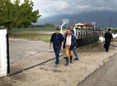 Σε πληγείσες περιοχές ο Θέμης Χειμάρας - Ξεκινά άμεσα η καταγραφή των ζημιών στη Φθιώτιδα