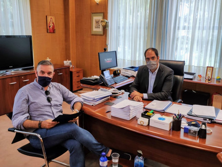 Συνεργασία Θέμη Χειμάρα με τον Υφυπουργό Μεταφορών Γιάννη  Κεφαλογιάννη για τα τρένα της Φθιώτιδας