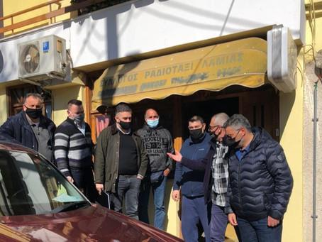Συνάντηση Θέμη Χειμάρα με εκπροσώπους της Ένωσης Ιδιοκτητών Ραδιοταξί Λαμίας