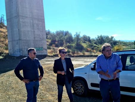 Στη Στύρφακα ξανά ο Θέμης Χειμάρας για τις εργασίες αποκατάστασης από τον Ιανό