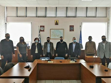 Στο Δήμο Λοκρών ο Θέμης Χειμάρας συνεχίζοντας τις επαφές του με τους Δημάρχους της Φθιώτιδας