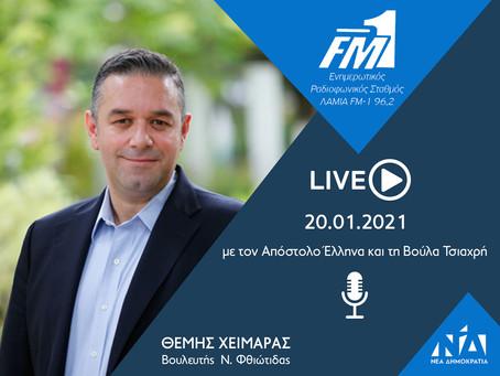 Συνέντευξη στο κεντρικό δελτίο ειδήσεων του ΛΑΜΙΑ FM1 | 20.01.2021