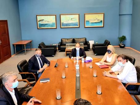 Συνάντηση Θέμη Χειμάρα με τον Υπουργό Ναυτιλίας κ. Πλακιωτάκη για το λιμάνι της Στυλίδας