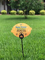 Easy Peasy Home Services Lemon lawn sign in lawn