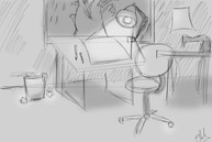 Desk Studio Sketch