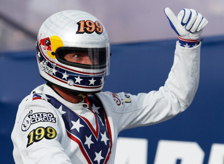Daredevil Travis Pastrana replicates Evel Knievel's jumps
