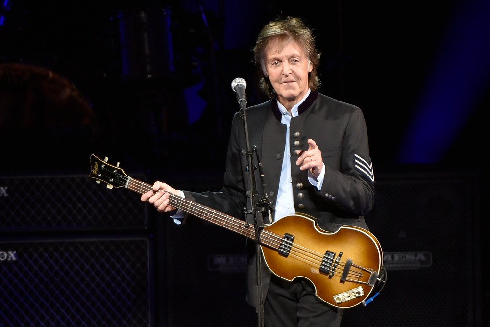 """FILE - In this July 26, 2017 file photo, Paul McCartney performs on the One on One Tour at the Hollywood Casino Amphitheatre in Tinley Park, Ill. The former Beatle announced on social media on Wednesday, June 20, 2018, that """"Egypt Station"""" will be released on Sept. 7. The title comes from the name of one of McCartney's paintings and it will be McCartney's first full album since """"NEW"""" in 2013. (Photo by Rob Grabowski/Invision/AP, File)"""