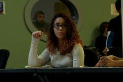 Actress Destinie on set