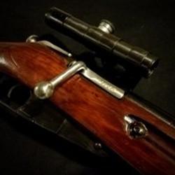 wwii Mosin Nagant 91/30 Sniper Rifle