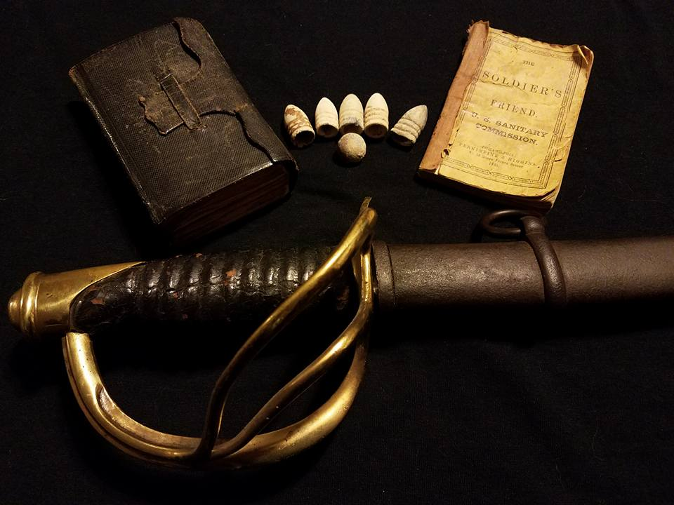 CIVIL WAR SWORD, BIBLE, HANDBOOK