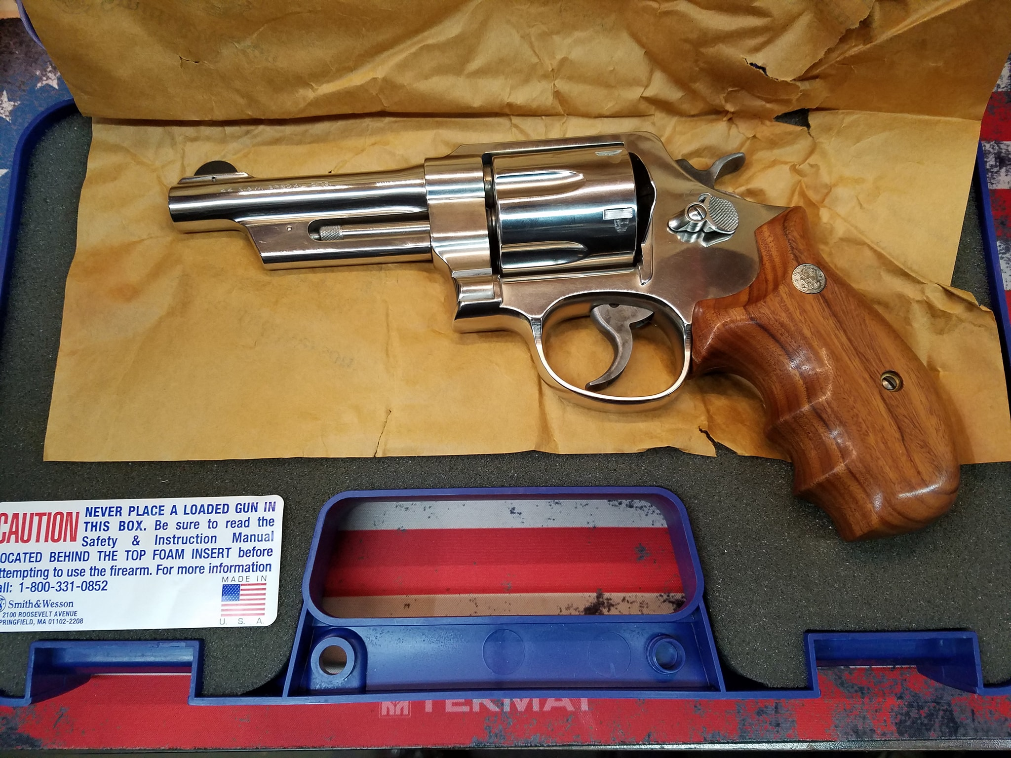 Smith & Wesson 21-4 44spl Nickel