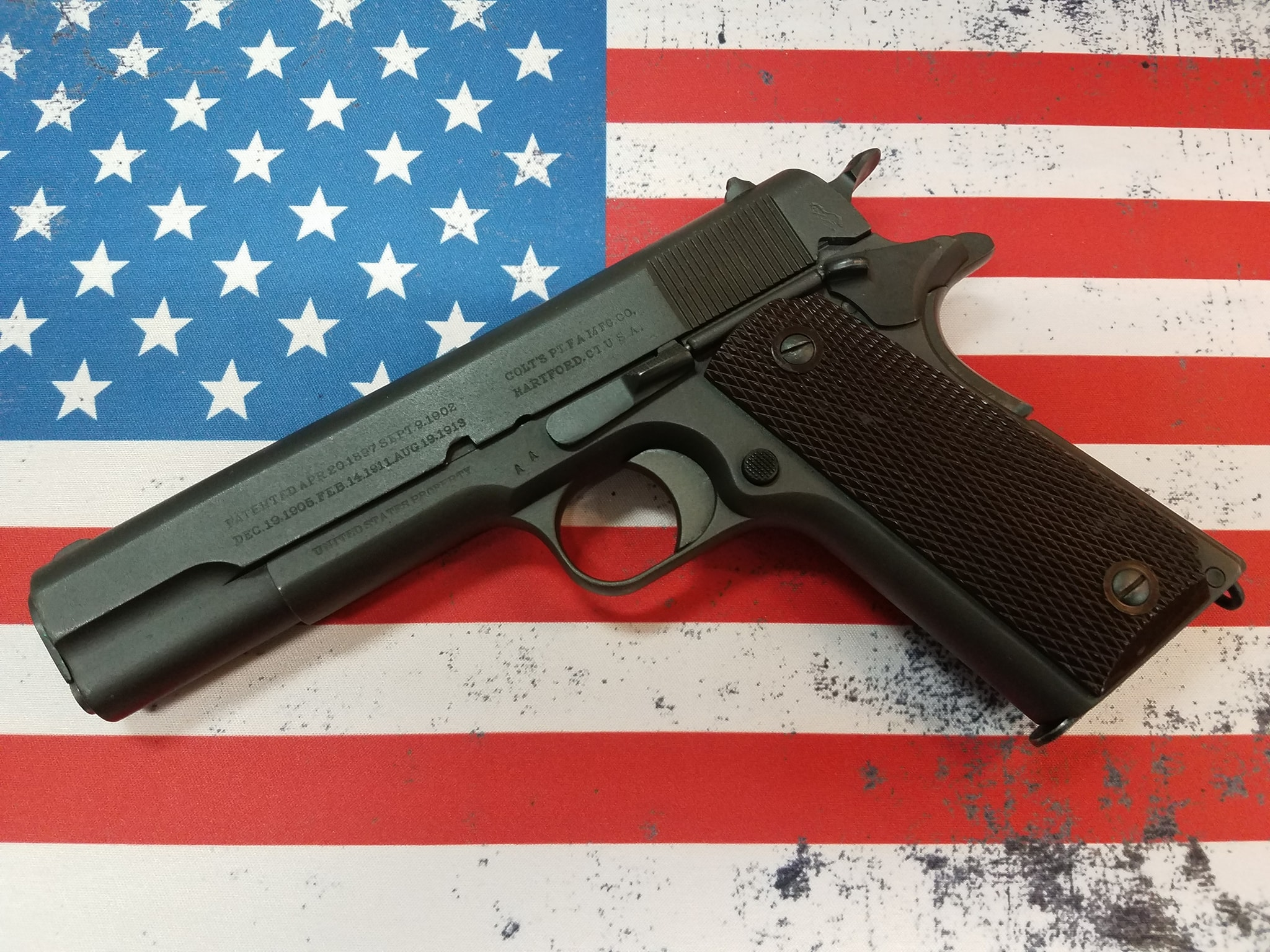wwi Colt 1911 refurbished in wwii