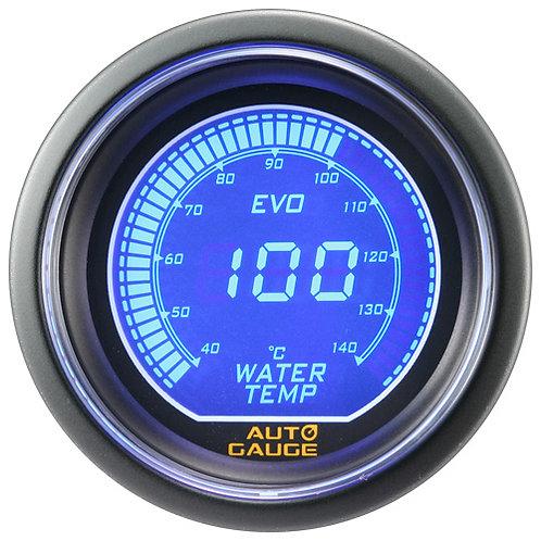 AUTO GAUGE WATER TEMP BLUE/RED