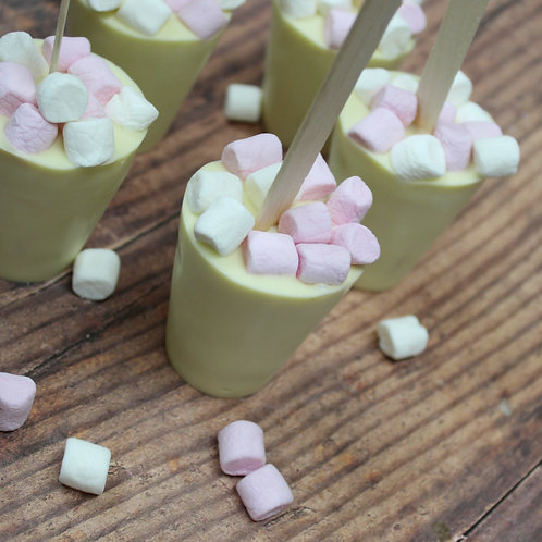 White hot chocolate stirrer