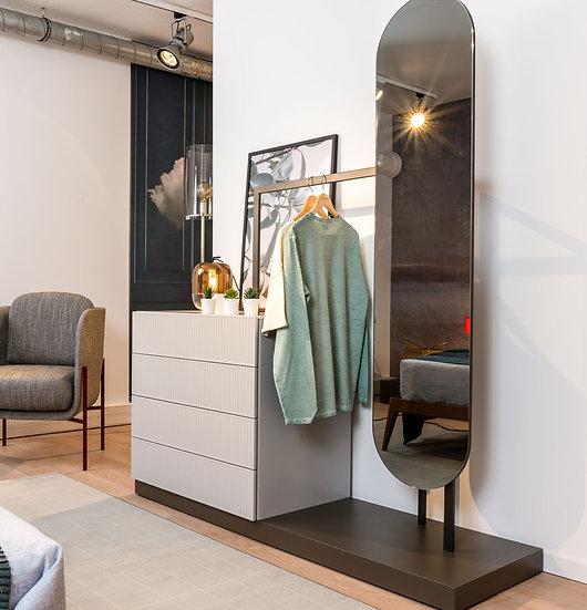 Ensemble meuble EASY - Penderie, 3 tiroirs et miroir - NOVAMOBILI