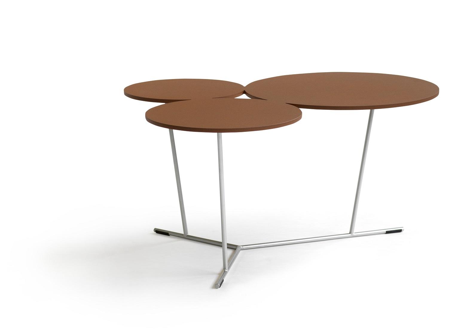 Table basse design Bubble BLA STATION graphique décorative outdoor exterieur terracotta
