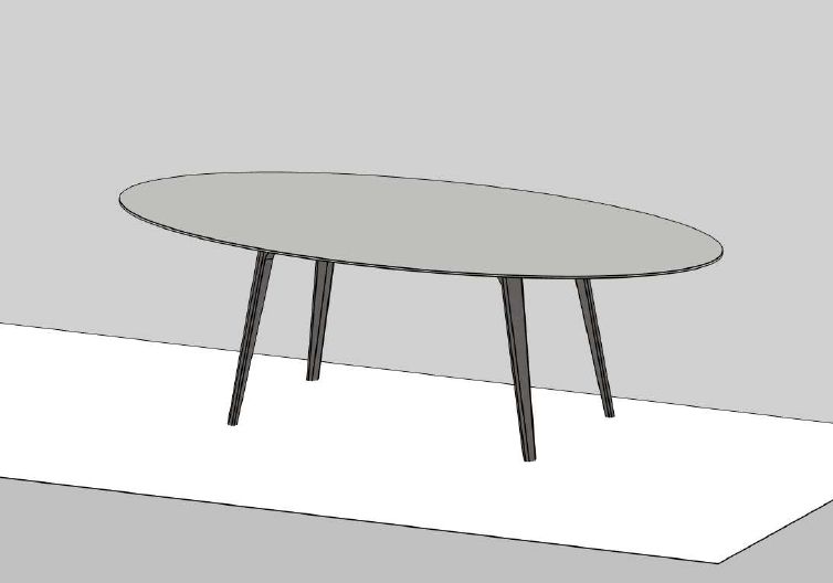 Table ARGOS en laque mate L240cm - NOVAMOBILI